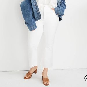 Tall Cali Demi-Boot Jeans in Pure White: Raw-Hem